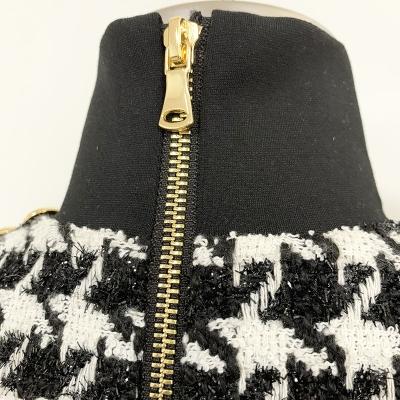 High-Collar-Zipper-Mini-Dress-K688-5