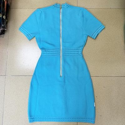 Deep-V-Knit-Dress-K1027-3