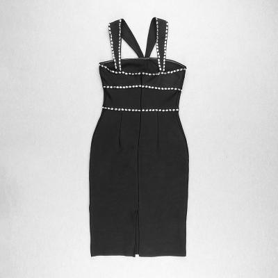 Halter-V-Neck-Rhinestone-Bandage-Dress-K1041-2