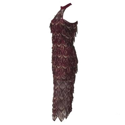 Mesh Sequin Off The Shoulder Dress K239 (9)