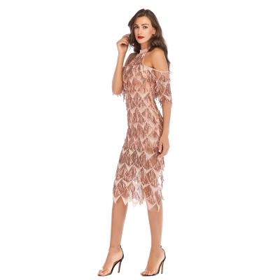 Mesh Sequin Off The Shoulder Dress K239 (7)