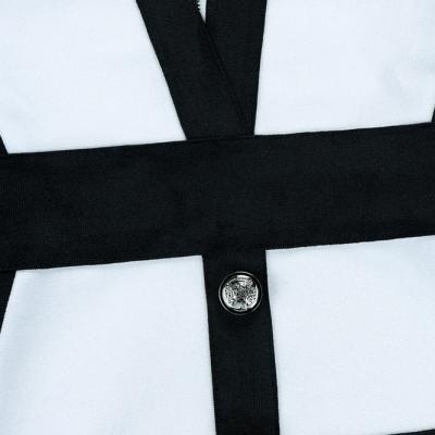 Black-Stripe-Bandage-Dress-K342-3