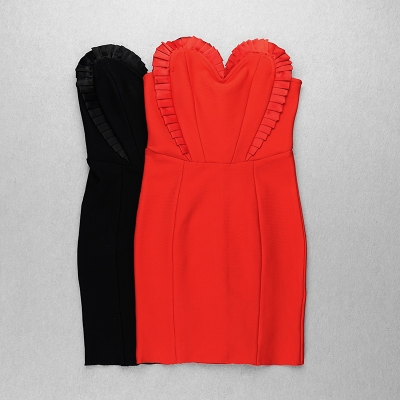 Flower-Type-Bandage-Dress-K100535
