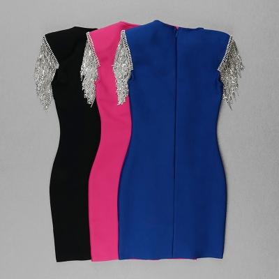 Rhinestone-Tassel-Sleeve-Bandage-Dress-K1006-4