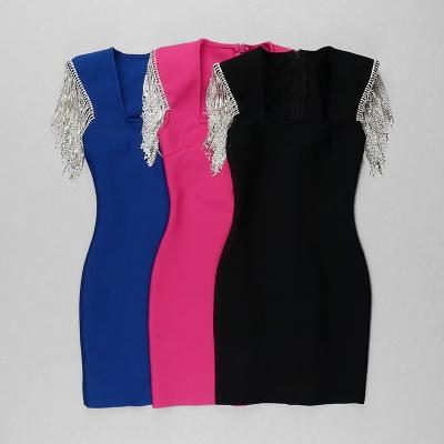 Rhinestone-Tassel-Sleeve-Bandage-Dress-K1006-5