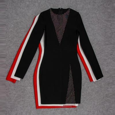 Long-Sleeve-Deep-V-Bandage-Dress-K1018-39