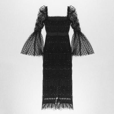 Gauze-Pleated-Sequins-Dress-K1023-16