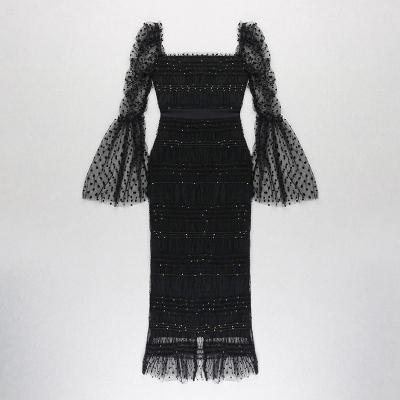 Gauze-Pleated-Sequins-Dress-K1023-17