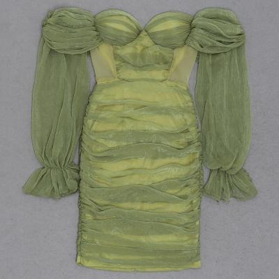 Off-Shoulder-Mesh-Ruched-Bandage-Dress-K1040-12