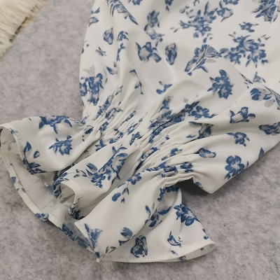 Puff-Sleeve-Floral-Blouse-K1044-12副本