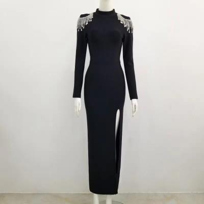 Rhinestone-Tassel-Hollow-Out-Bandage-Dresses-K1045-8