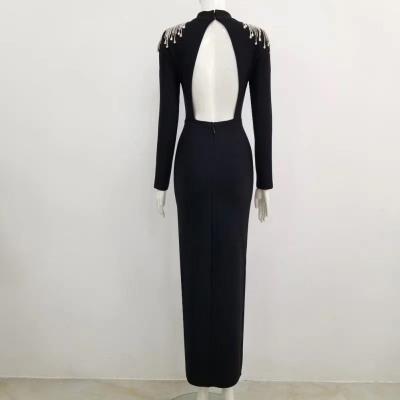 Rhinestone-Tassel-Hollow-Out-Bandage-Dresses-K1045-9