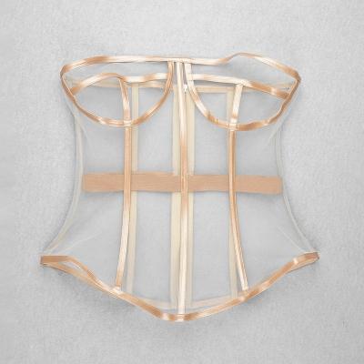 Long-Sleeve-Printed-Dress-﹠Gauze-Waist-Sealing-Set-K1052-6