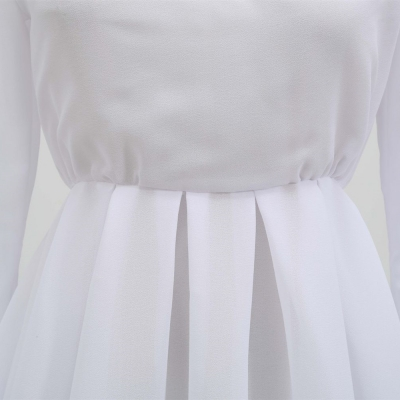 Long-Sleeve-Mesh-Dress-﹠-Gauze-Waist-Sealing-Set-K1054-1_副本