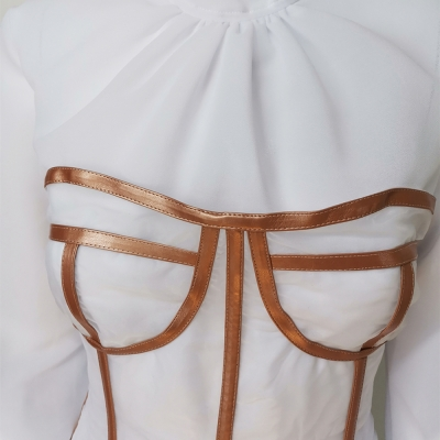 Long-Sleeve-Mesh-Dress-﹠-Gauze-Waist-Sealing-Set-K1054-20_副本