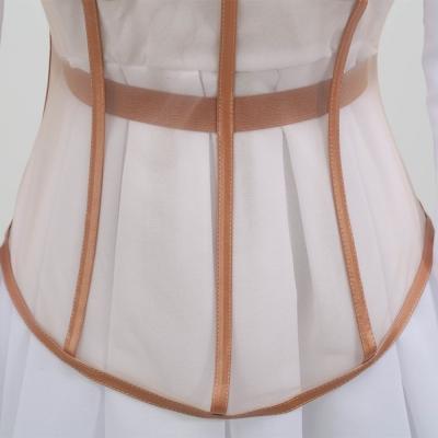 Long-Sleeve-Mesh-Dress-﹠-Gauze-Waist-Sealing-Set-K1054-4_副本