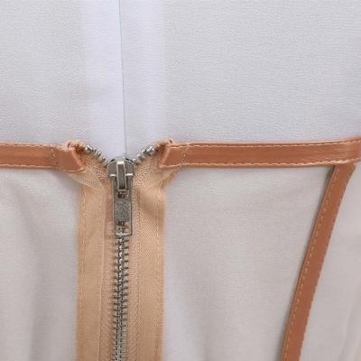 Long-Sleeve-Mesh-Dress-﹠-Gauze-Waist-Sealing-Set-K1054-7_副本