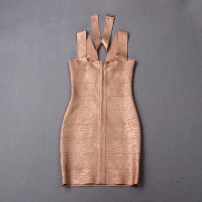Hollow-Out-Halter-Metallic-Bandage-Dress-K1071-5