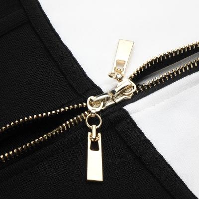 White-And-Black-Sleeveless-Bandage-Dress-K1102-5