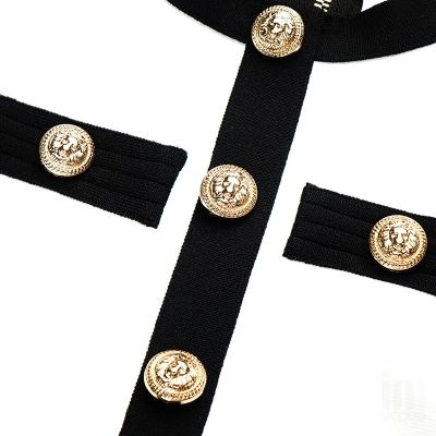 White-And-Black-Sleeveless-Bandage-Dress-K1102-7