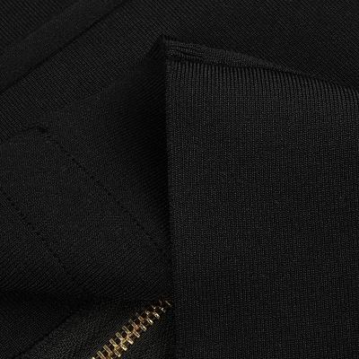 White-And-Black-Sleeveless-Bandage-Dress-K1102-9