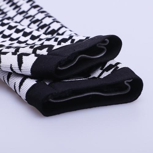 Black White Figure Mesh Hollow Bandage  Dress K166 (4)