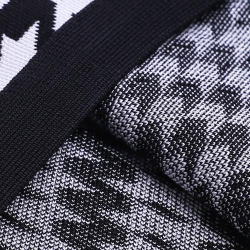 Black White Figure Mesh Hollow Bandage  Dress K166 (5)