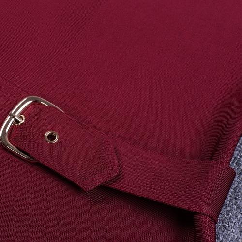 Wine Red Strap Girdling Bandage Dress K215(6)