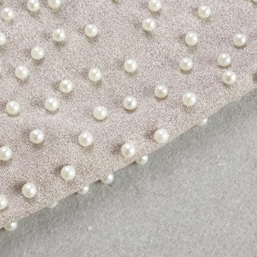 Bright Silk Bandage Pearl Studded Dress K250 (25)