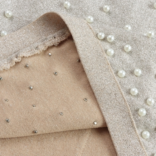 Bright Silk Bandage Pearl Studded Dress K250 (9)