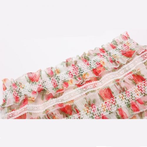 Floral Designs Lace Ruffle 2 Piece Set K263 (1)