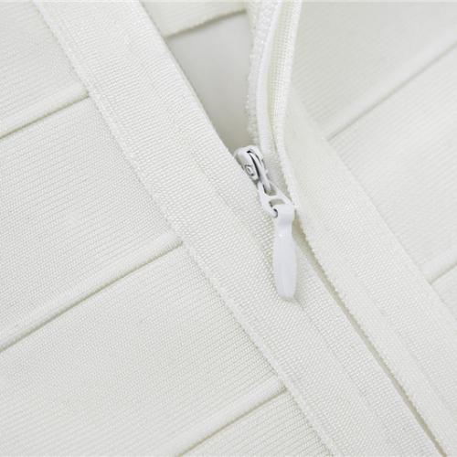 WHITE CUT OUT LONG SLEEVE BANDAGE DRESS K286 (2)