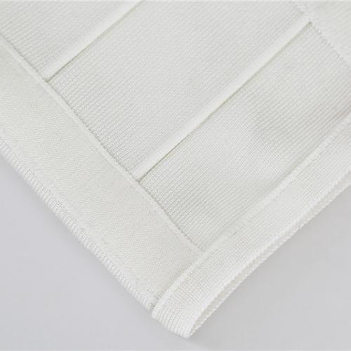 WHITE CUT OUT LONG SLEEVE BANDAGE DRESS K286 (8)