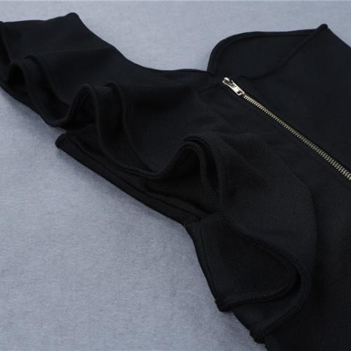 FOLD THE SLEEVE ONE SHOULDER BANDAE DRESS K295 (1)