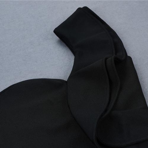 FOLD THE SLEEVE ONE SHOULDER BANDAE DRESS K295 (9)