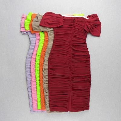 Gathered-Oranza-Mesh-Off-Shoulder-Bandage-Dress-K454-14