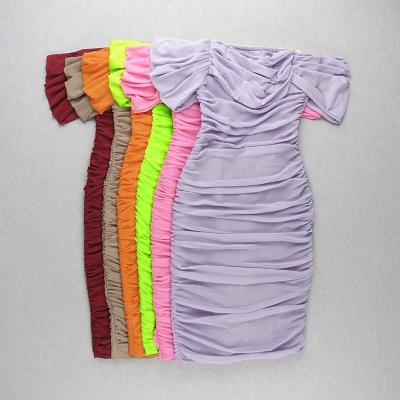 Gathered-Oranza-Mesh-Off-Shoulder-Bandage-Dress-K454-15