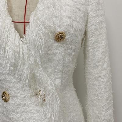 Black-Fringed-Dress-with-Gold-Check-Blazer-Dress-K680-5