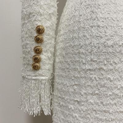 Black-Fringed-Dress-with-Gold-Check-Blazer-Dress-K680-6