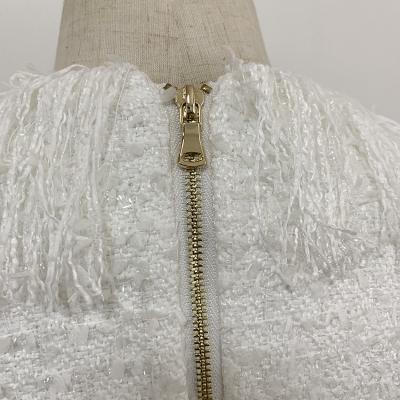 Black-Fringed-Dress-with-Gold-Check-Blazer-Dress-K680-7