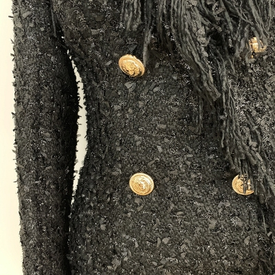 Black-Fringed-Dress-with-Gold-Check-Blazer-Dress-K680-8