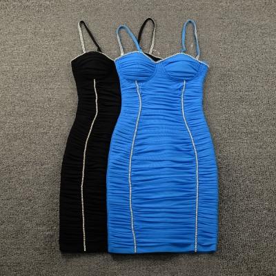 Ruched-Mesh-Strap-Bandage-Dress-K799-4