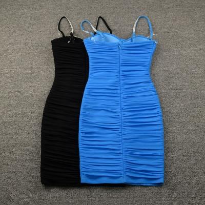 Ruched-Mesh-Strap-Bandage-Dress-K799-5