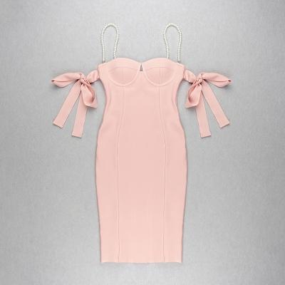 Pearl-Strap-Bandage-Dress-K813-4