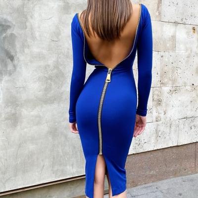 Zipper-Long-Sleeve-Bandage-Dress-K820-11_副本
