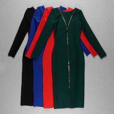 Zipper-Long-Sleeve-Bandage-Dress-K820-55