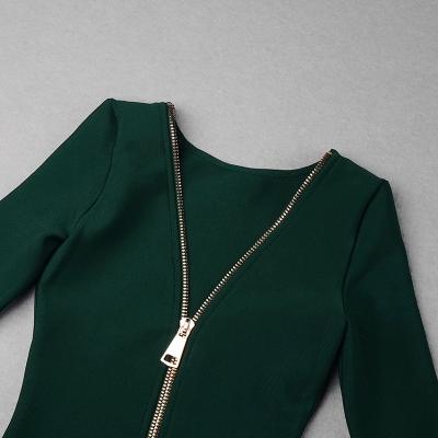 Zipper-Long-Sleeve-Bandage-Dress-K820-56
