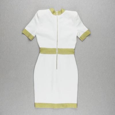 Golden-Silk-Short-Sleeve-Bandage-Dress-K821-28