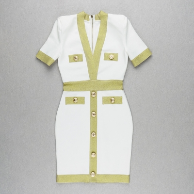 Golden-Silk-Short-Sleeve-Bandage-Dress-K821-29