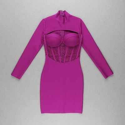 Hollow-Out-Lace-Gauze-Bandage-Dress-K82261